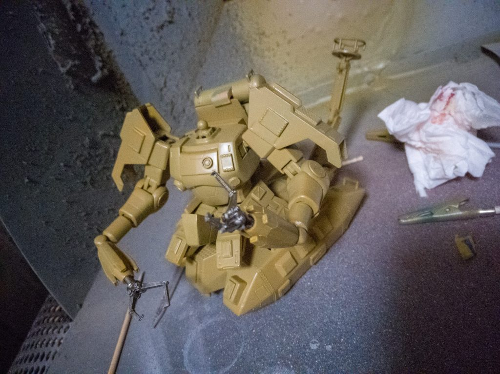ザクタンク(旧キット+HGUCザクⅠ黒い三連星仕様) 制作工程1