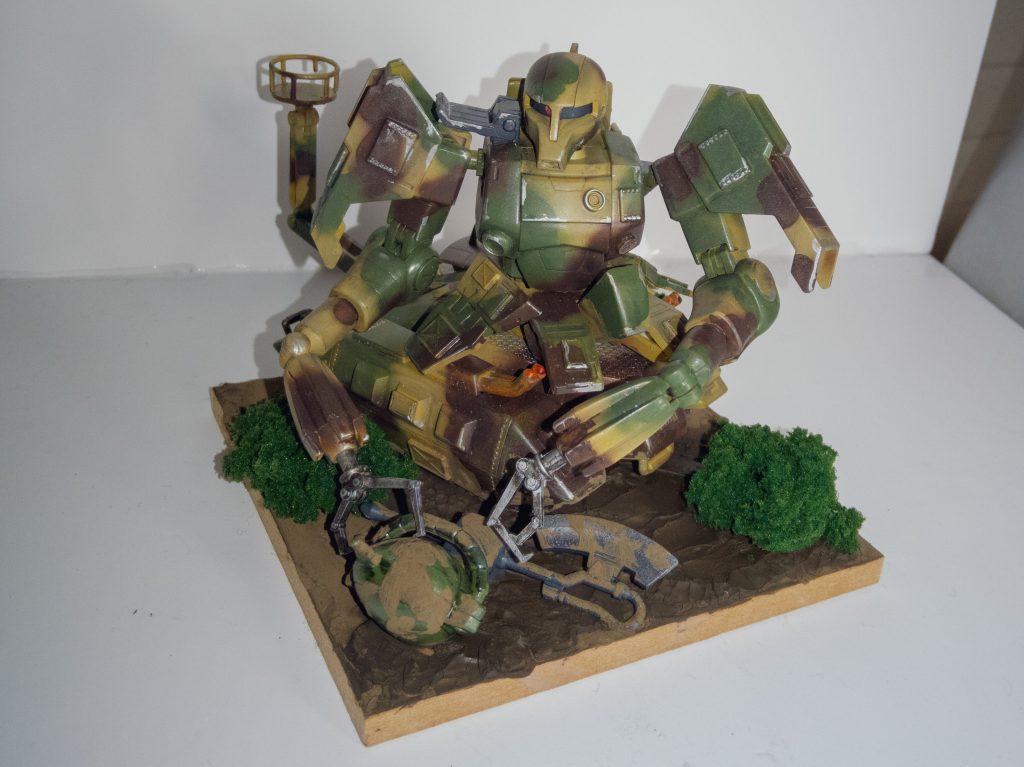 ザクタンク(旧キット+HGUCザクⅠ黒い三連星仕様)