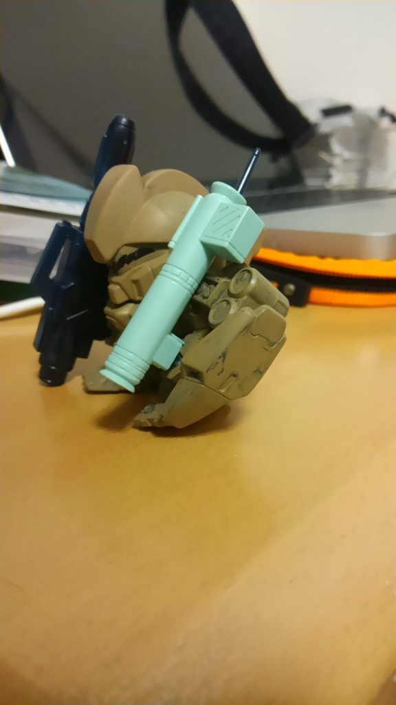 SDジェガン(武装強化型) 制作工程3