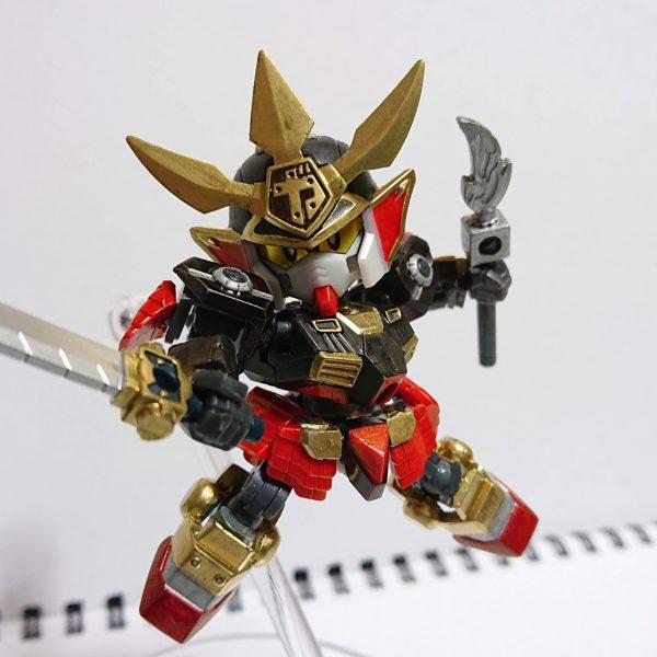 ガシャプラ可動改造「武者刀槍頑駄無」