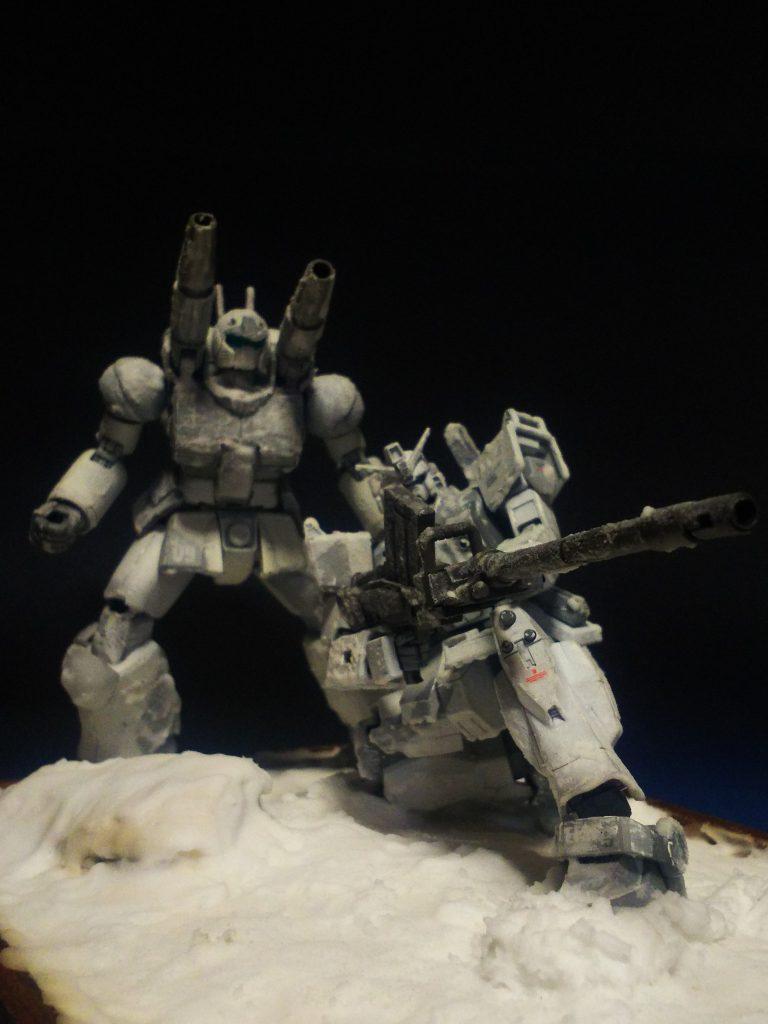 雪山の攻防