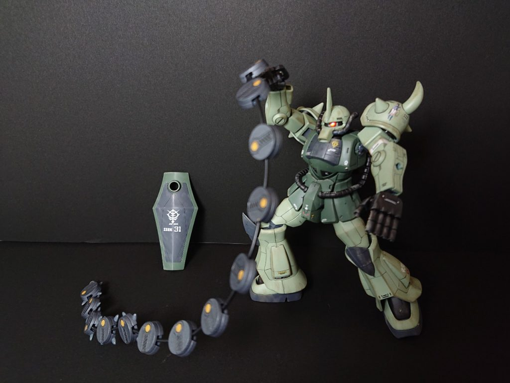 MS-07B 【Local fighter type】グフ 局地戦闘仕様 制作工程2