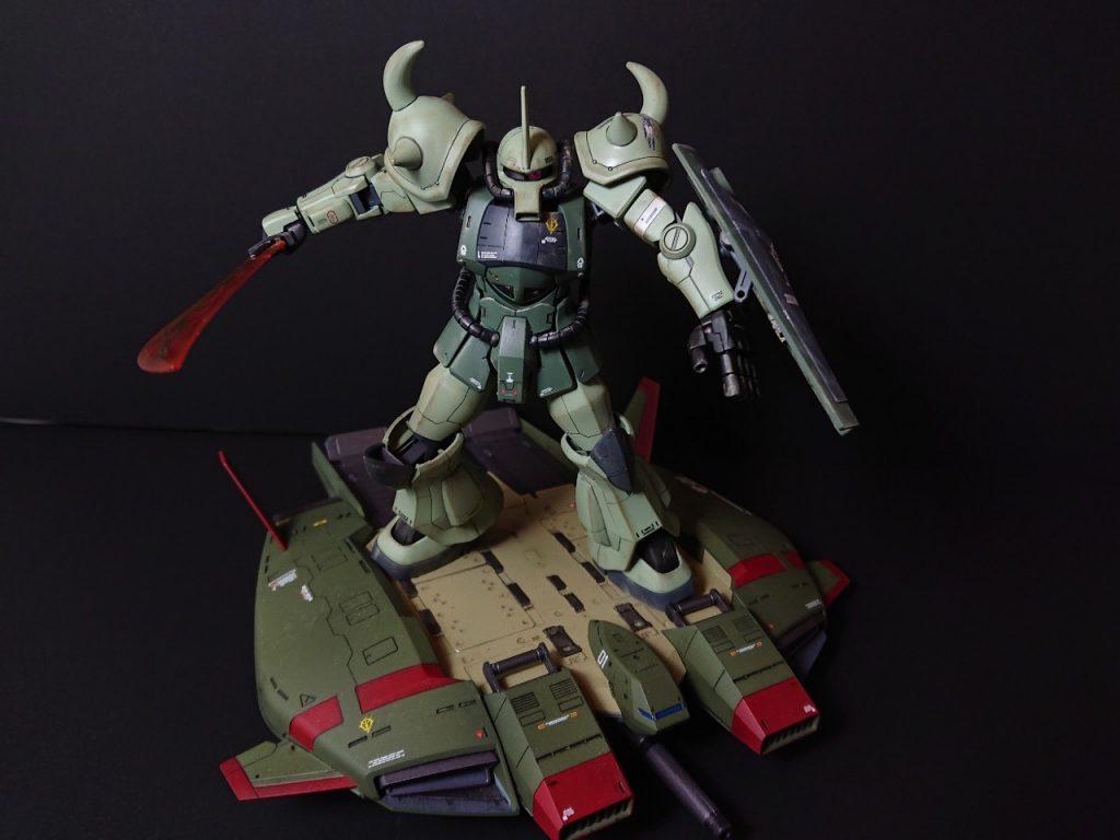 MS-07B 【Local fighter type】グフ 局地戦闘仕様 制作工程3