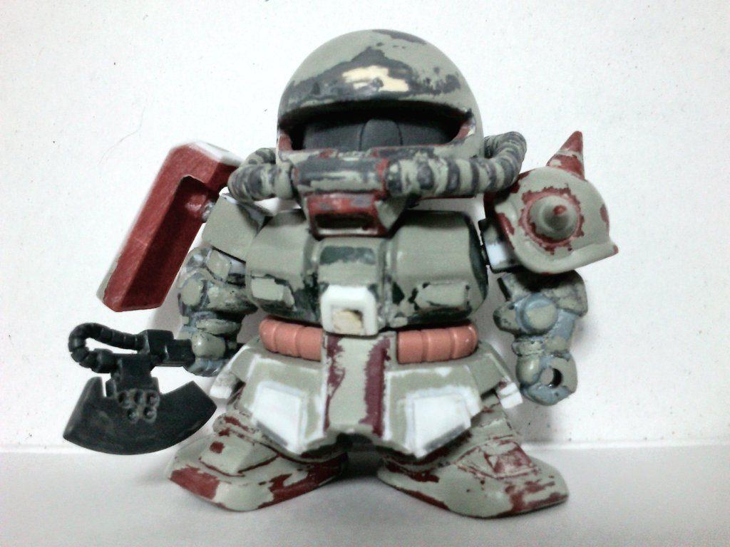 SD ザクⅡ FZ型 (ザクⅡ改) 制作工程1