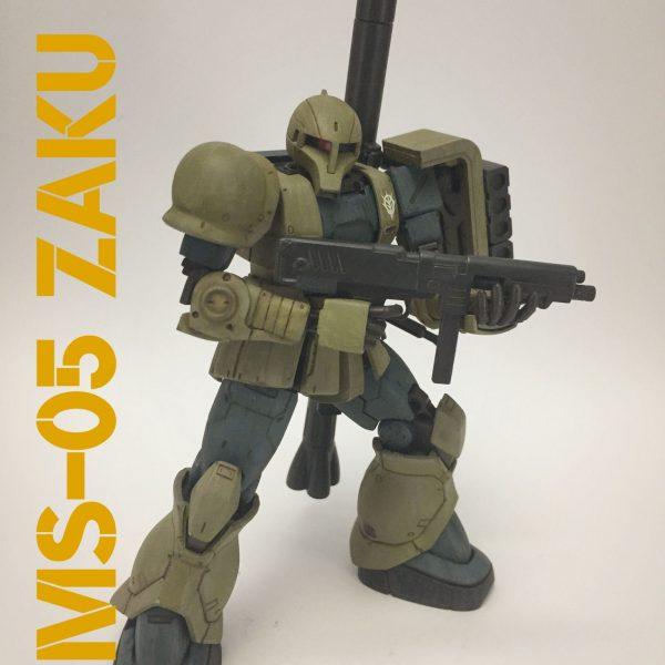 MS-05 ザクⅠ (シンカイ専用機)その2