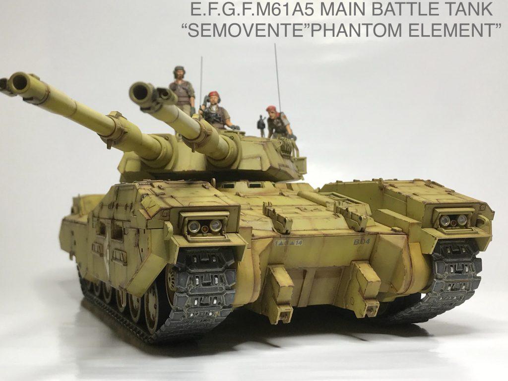 地球連邦軍61式戦車 アピールショット1