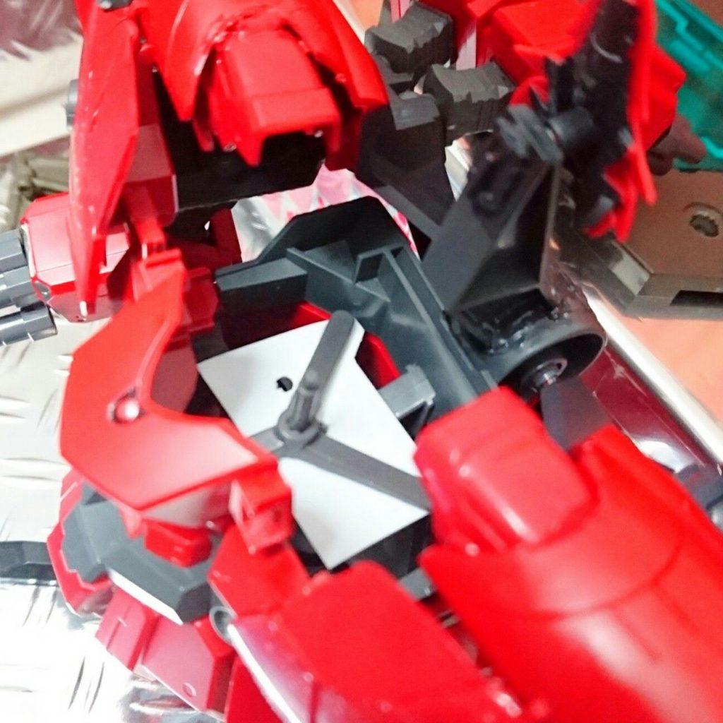 BB戦士+ガシャポン戦士DASH改造 ネオジオング 制作工程1