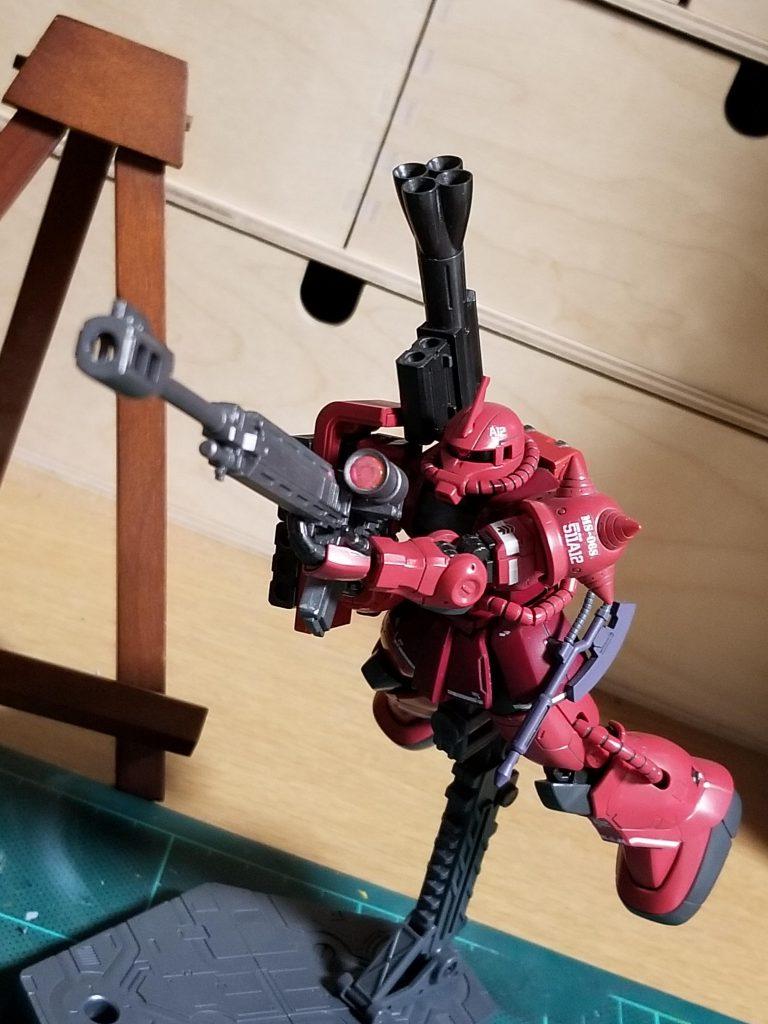 HG 1/144 MS06-S シャア専用ザクⅡ アピールショット4