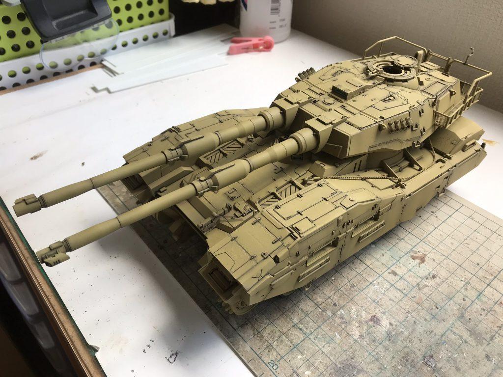 地球連邦軍61式戦車 制作工程1