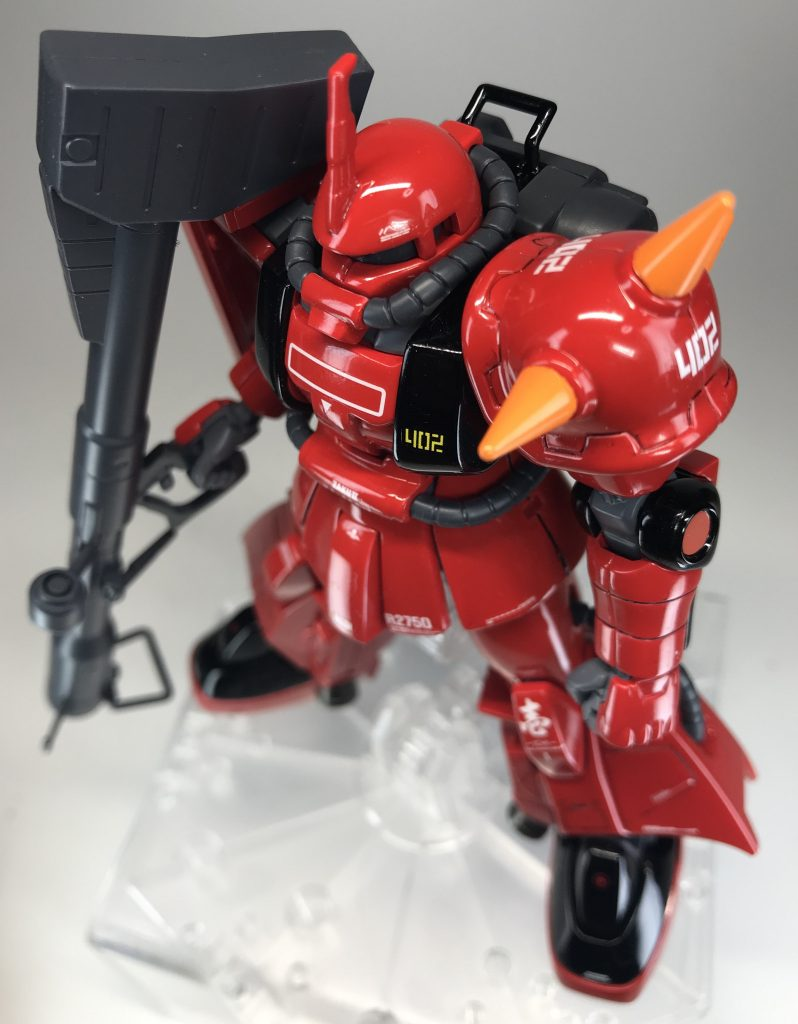 HG 【MS-06R-2 ZAKU2】ソリッドグロス&マット仕上げ アピールショット1