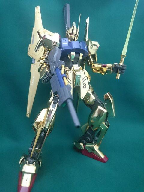 MG百式(艶ありメッキ)+メガバズーカランチャー アピールショット3