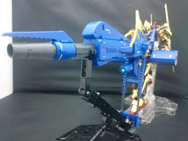 MG百式(艶ありメッキ)+メガバズーカランチャー 制作工程8