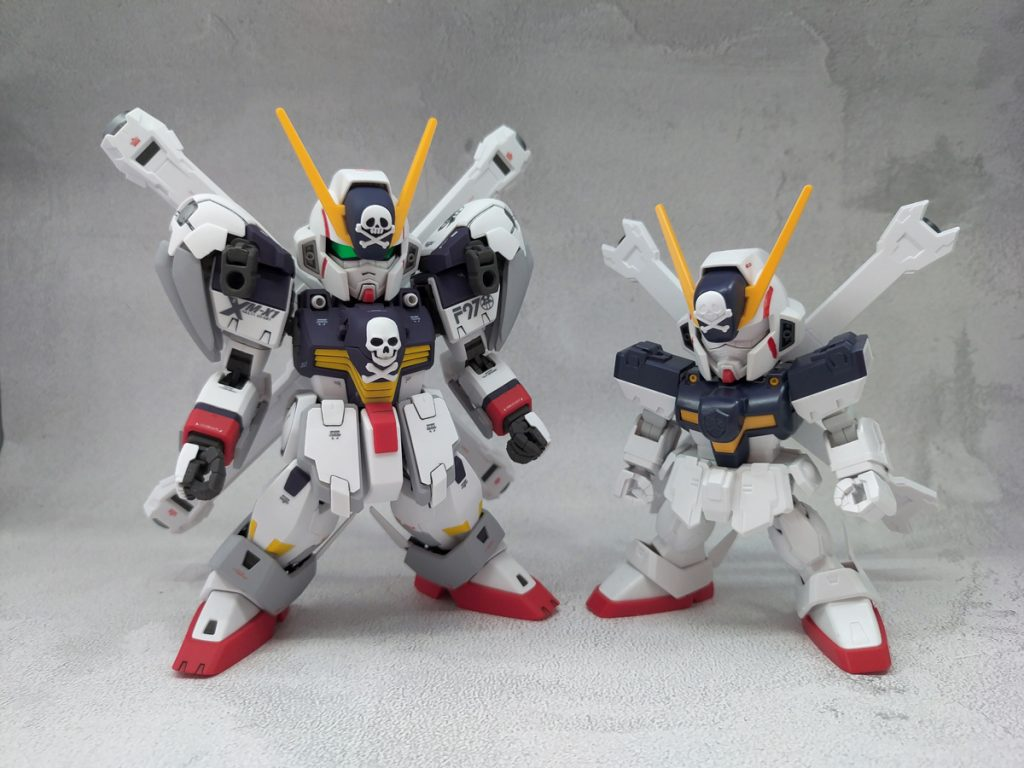 SD Cross Bone Gundam X1 Full Cloth 制作工程3