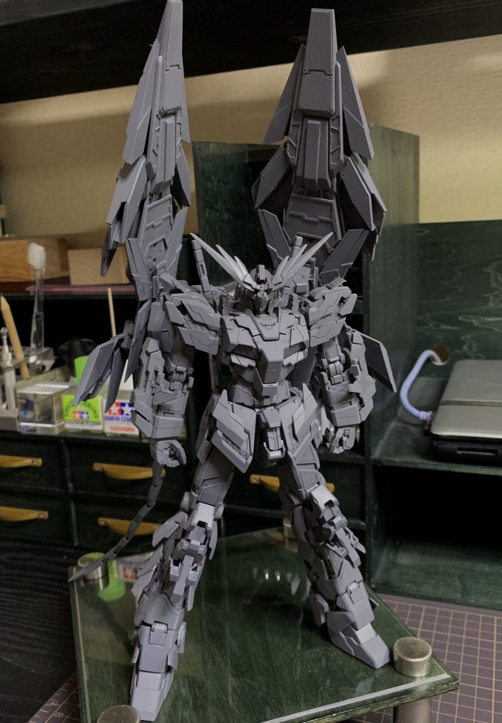 MG1/100 UNICORN GUNDAM 03 PHENEX 制作工程1