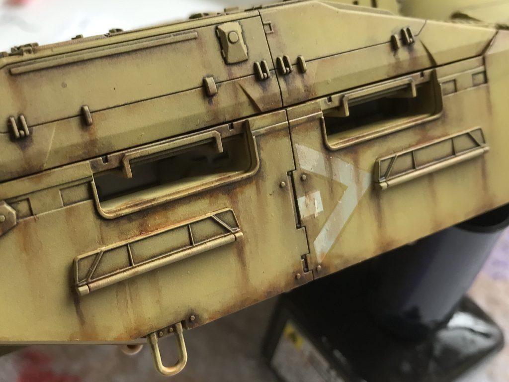 地球連邦軍61式戦車 制作工程5