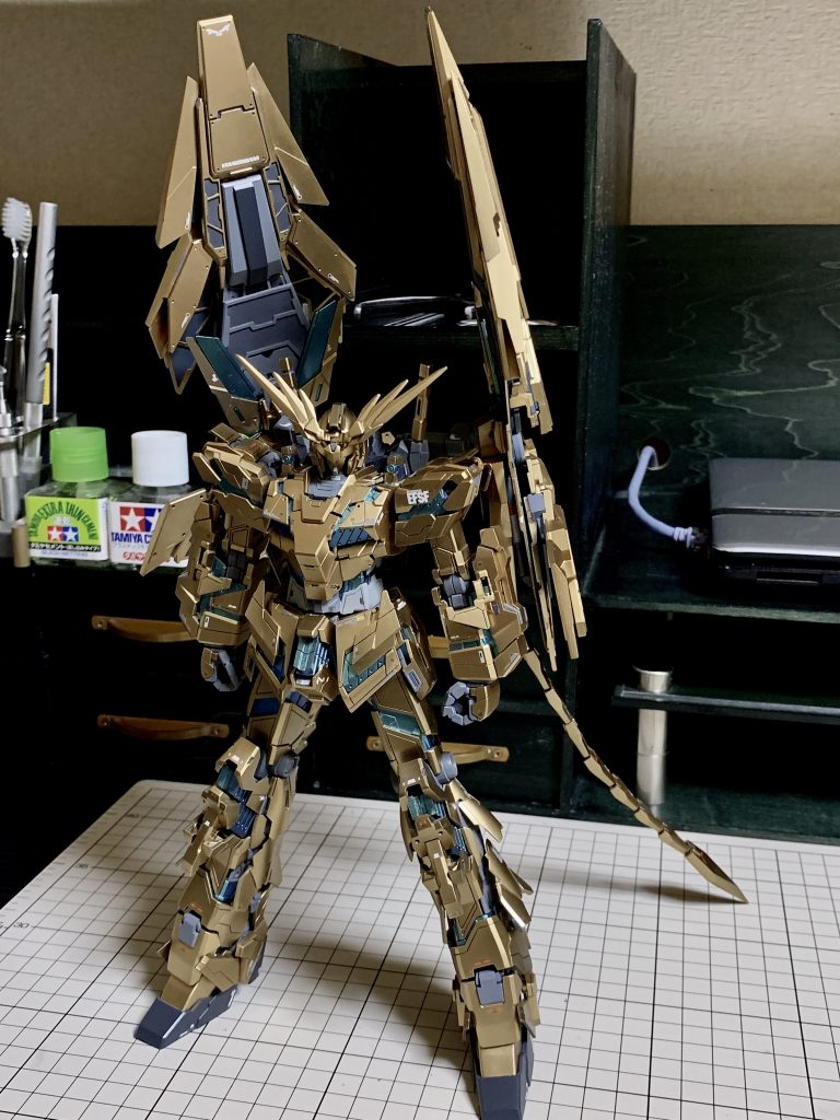 MG1/100 UNICORN GUNDAM 03 PHENEX 制作工程3