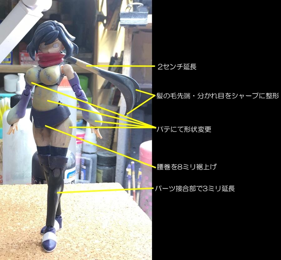 フィギュアライズスタンダード ダイバーアヤメ 制作工程4
