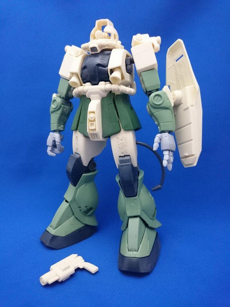 MG強行偵察型ザクⅡ 1.0【B-CLUB改造レジン使用】 制作工程5