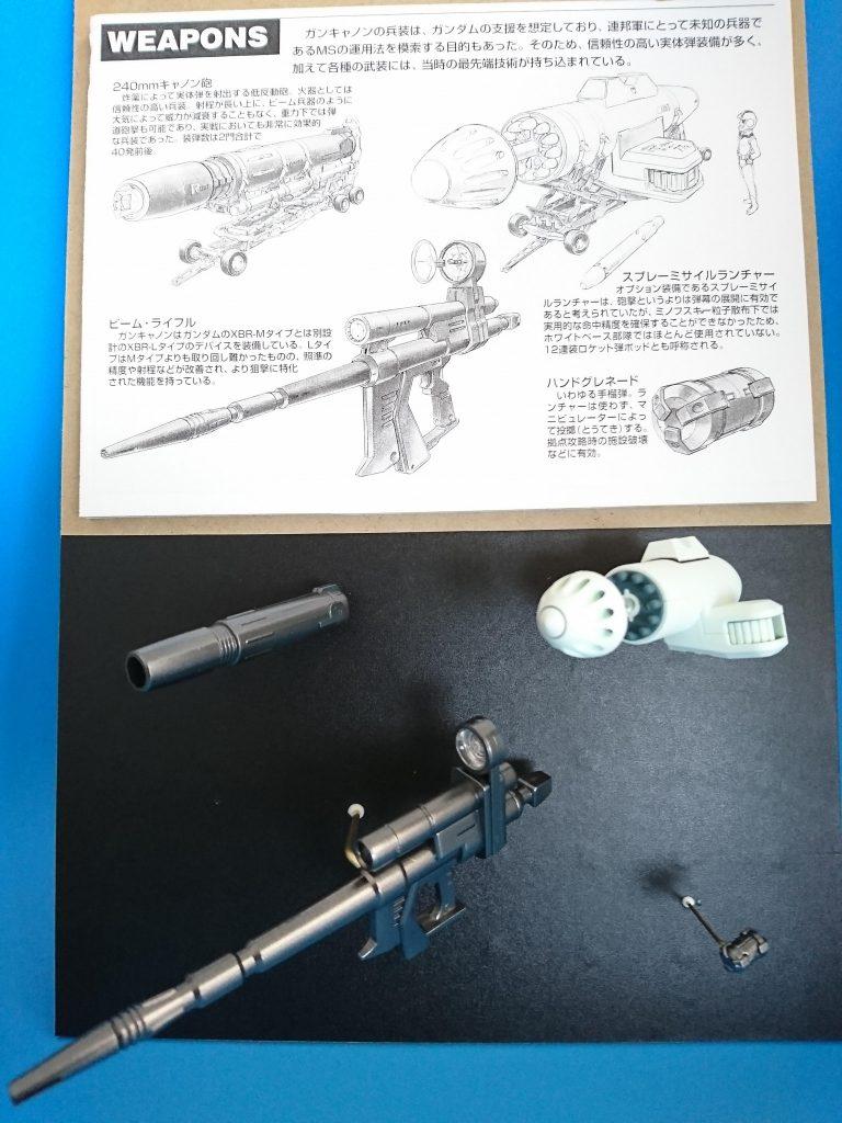 MG ガンキャノン 分解モデル 制作工程1