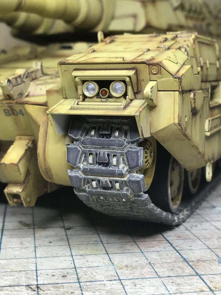 地球連邦軍61式戦車 制作工程7