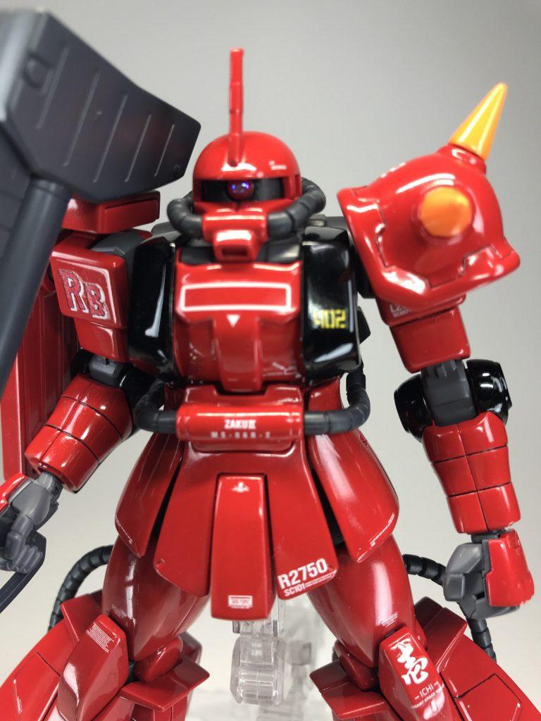 HG 【MS-06R-2 ZAKU2】ソリッドグロス&マット仕上げ アピールショット6