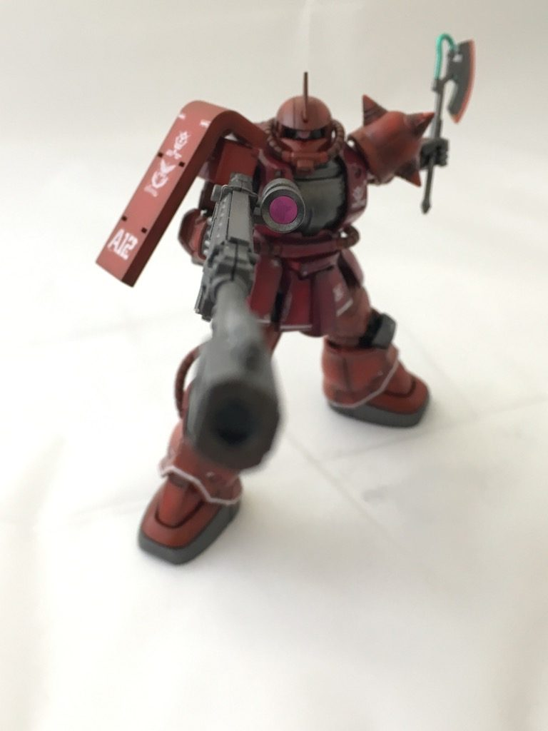 HGGO  1/144 MS-06S ZAKUⅡ (RED COMET Ver) シャア専用ザク 赤い彗星Ver  THE ORIGIN