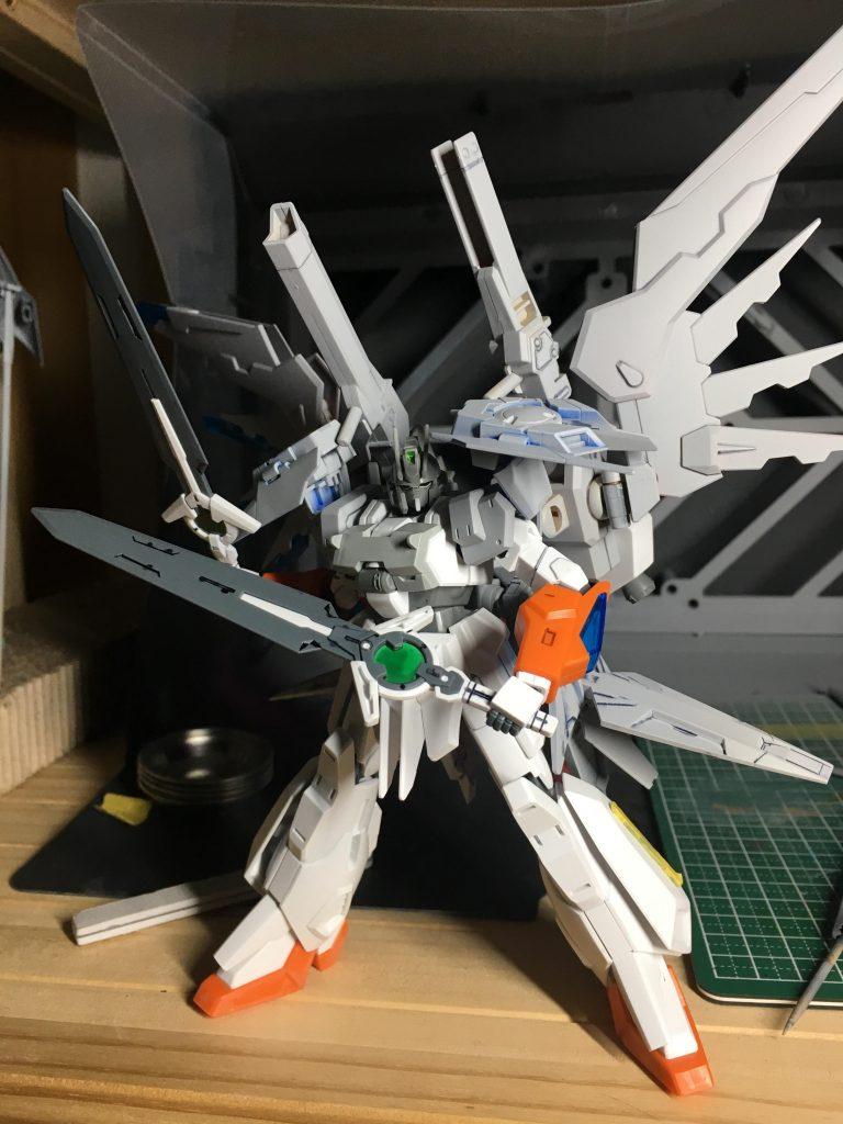 HGBF 1/144 ガンダムEz-SCR【オリジナル】 制作工程1