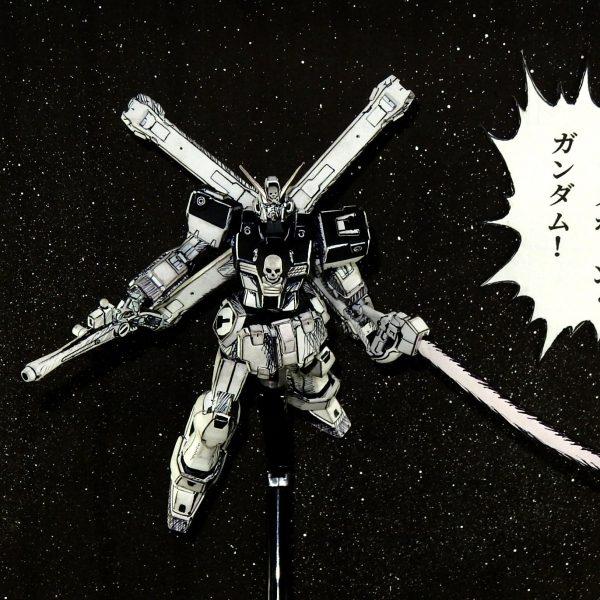 マンガ風 HGクロスボーンガンダムX1改改