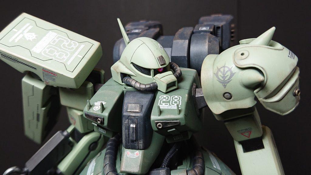 AMX-011G ZAKU-Ⅲ 【 ZEON-MARS type】陸戦型ザクⅢ 火星ジオン仕様 制作工程1
