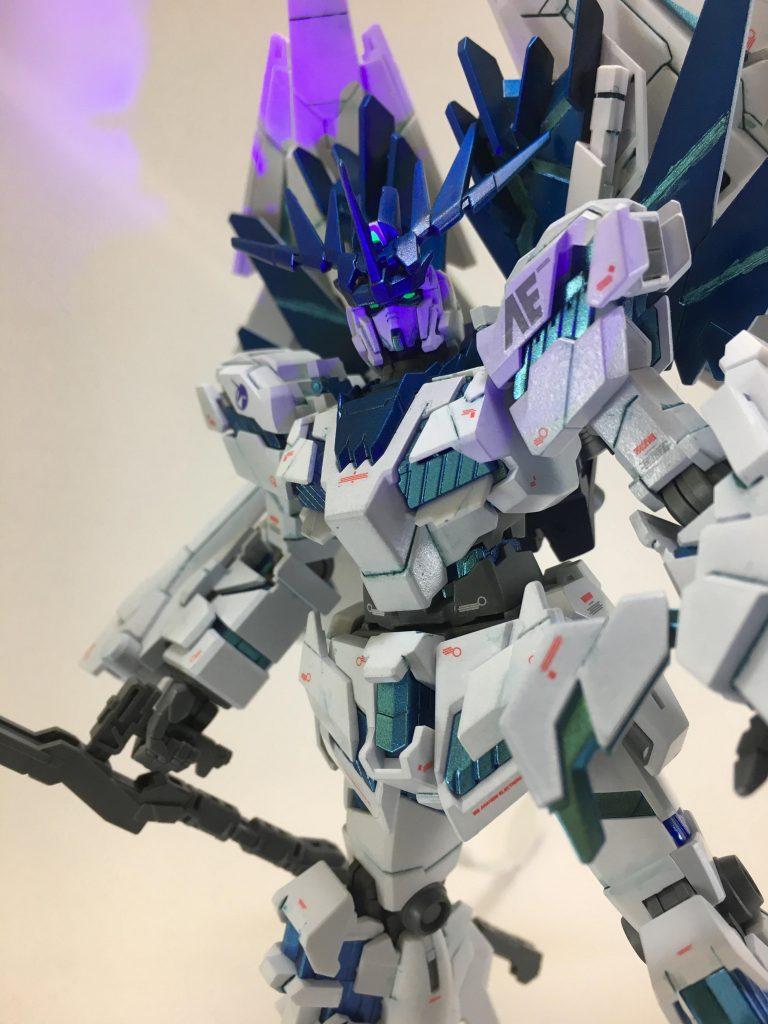 白き獅子(フルアーマーユニコーンガンダム2号機バンシィ・ペルフェクティビリティ) アピールショット2