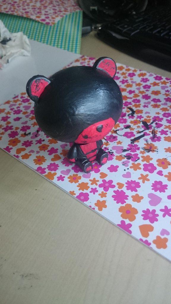 Custom pretty guy ガシャポン (red) 制作工程1