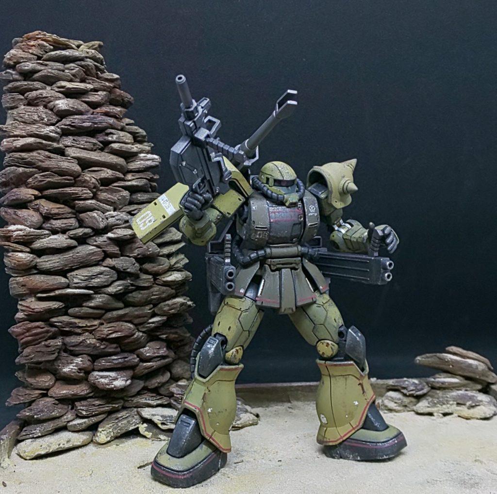 砂漠の攻防戦❗️ザクハーフキャノン