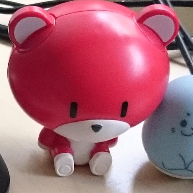 Custom pretty guy ガシャポン (red) 制作工程3