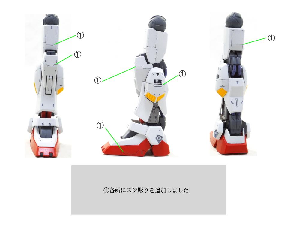 MG ガンダムマークII ver2.0 アムロ機 制作工程3