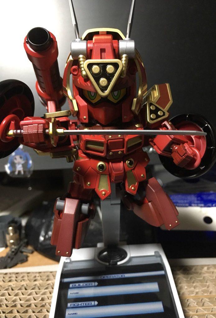 紅武者アメイジング(初めてのマスキング&全塗装)