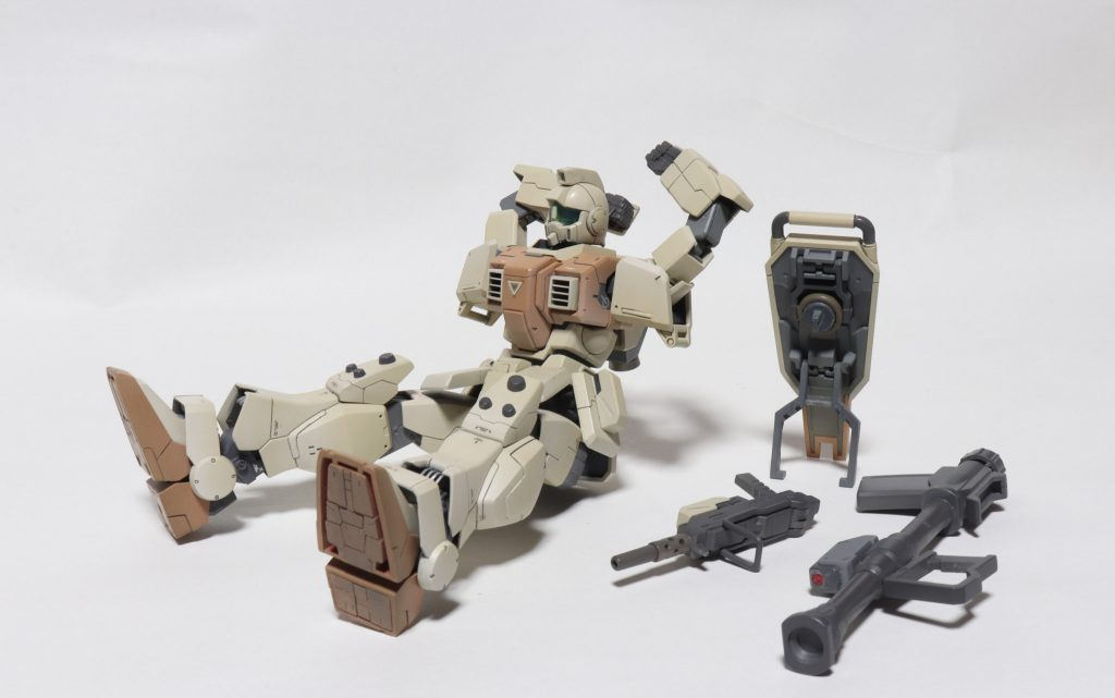 陸戦型ジム 制作工程1