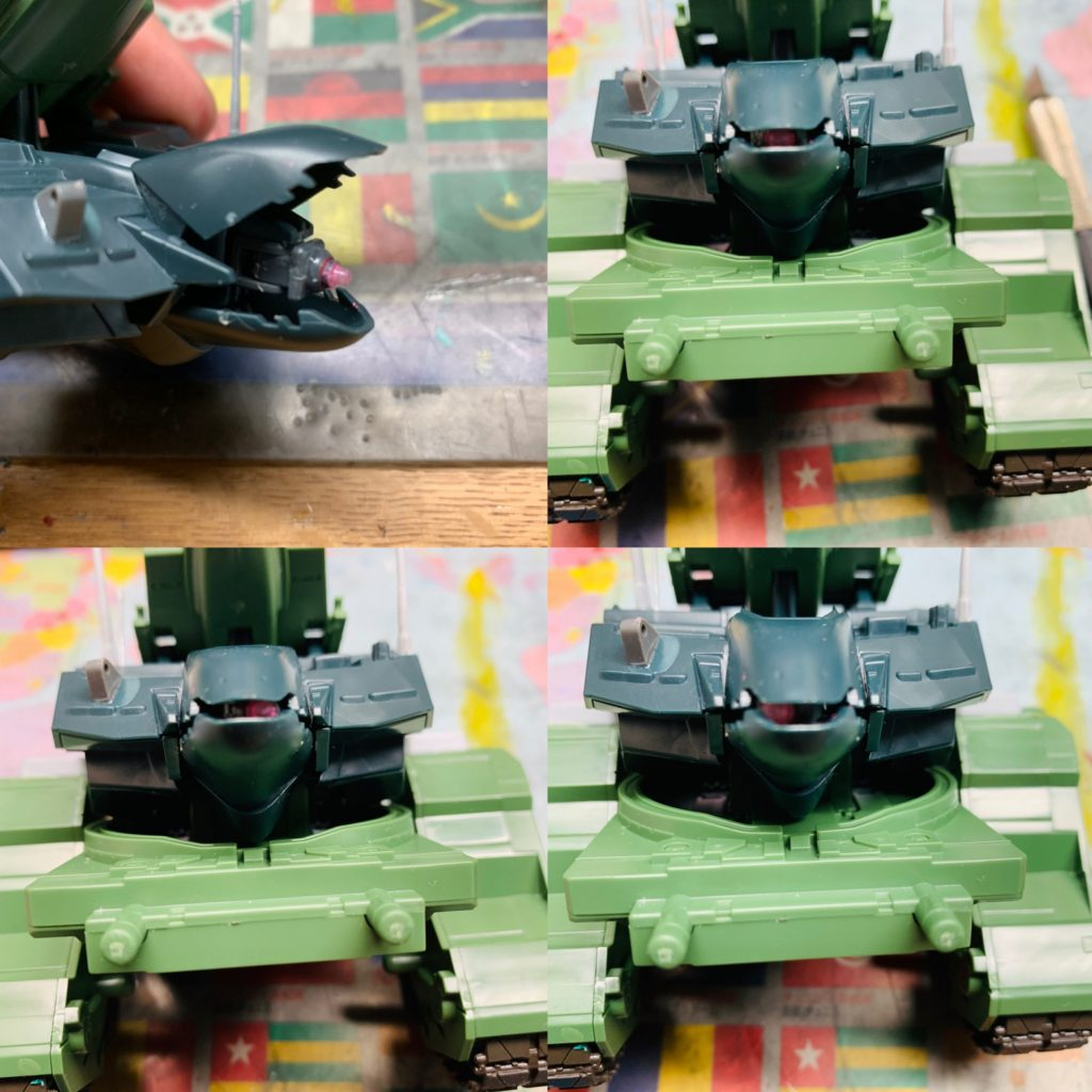 EX  YMT-05  ヒルドルブ(武装強化型) 制作工程2