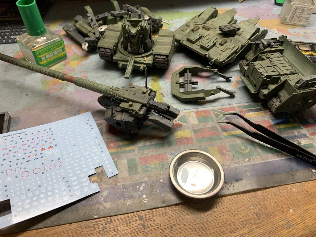 EX  YMT-05  ヒルドルブ(武装強化型) 制作工程4