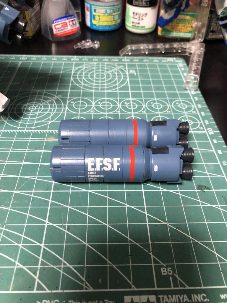 F:ナラティブガンダム A +装備 制作工程3
