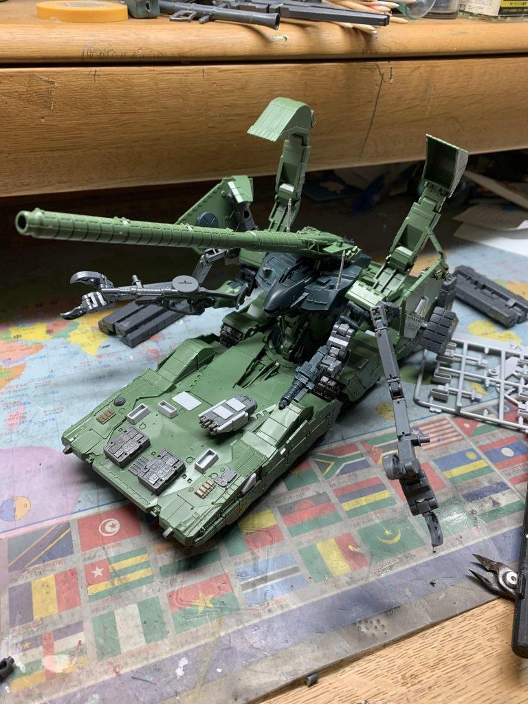EX  YMT-05  ヒルドルブ(武装強化型) 制作工程3