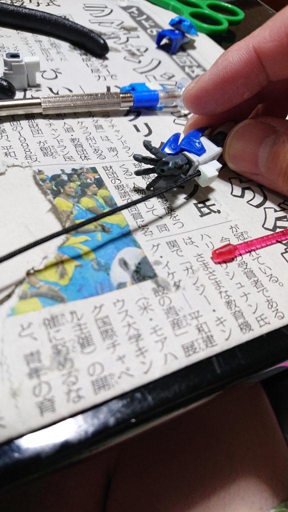 イザーク専用デスティニー 制作工程2