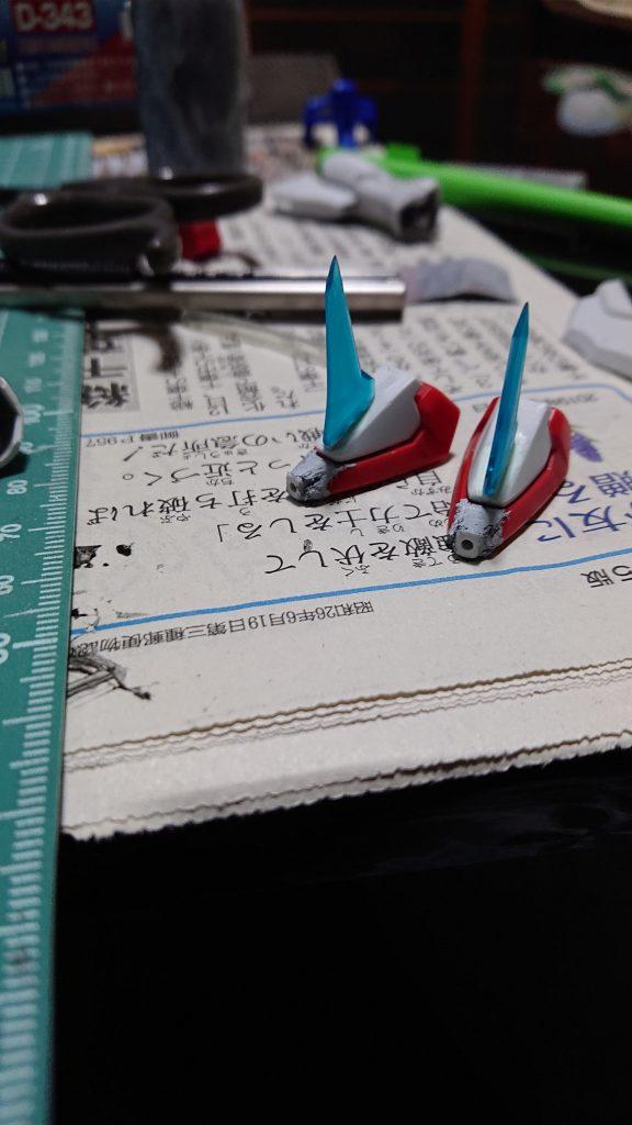 イザーク専用デスティニー 制作工程3