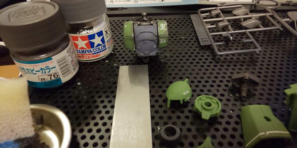 往年の勇者!ザクⅠ  (旧ザク) 制作工程5