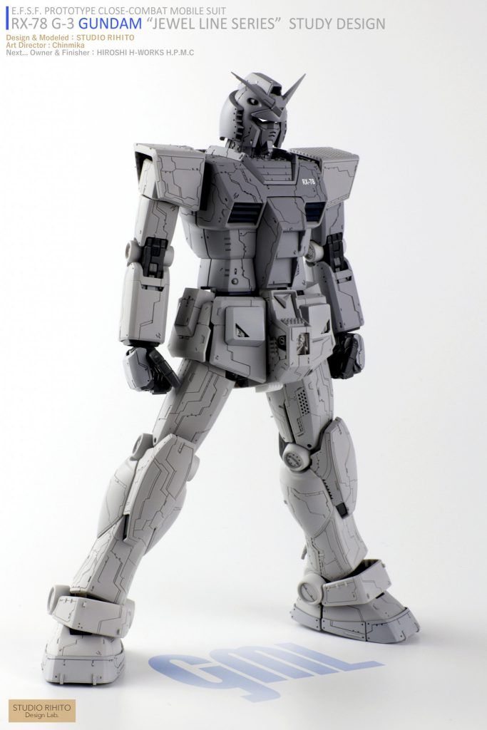 "【GML】RX-78 G-3 GUNDAM  ""JEWEL LINE SERIES"" STUDY DESIGN アピールショット1"