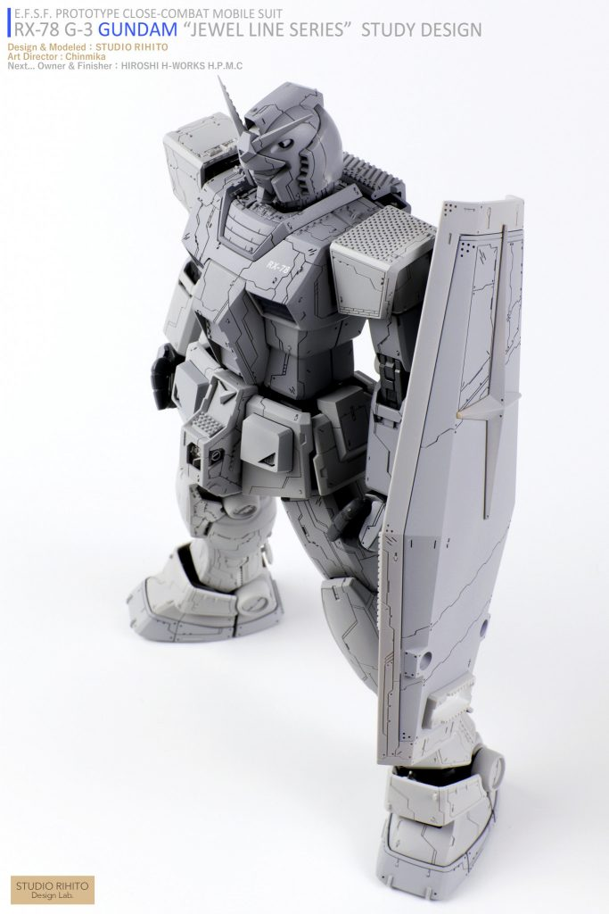 "【GML】RX-78 G-3 GUNDAM  ""JEWEL LINE SERIES"" STUDY DESIGN アピールショット2"
