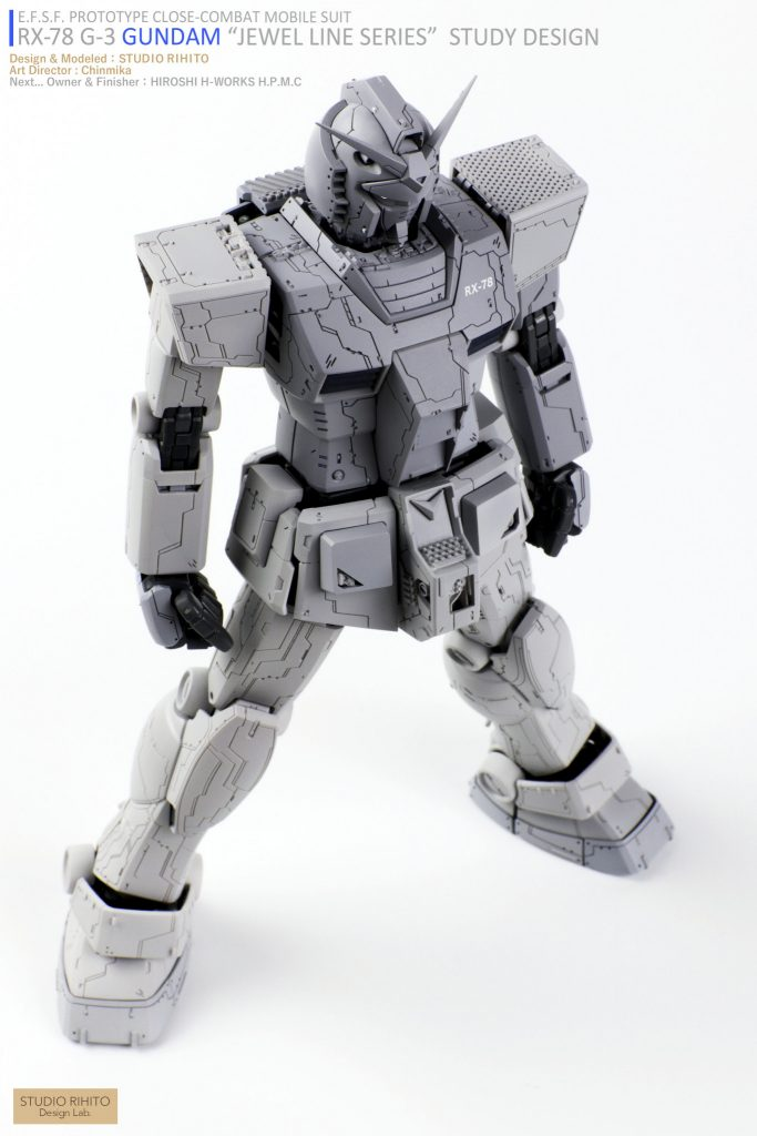 "【GML】RX-78 G-3 GUNDAM  ""JEWEL LINE SERIES"" STUDY DESIGN アピールショット4"
