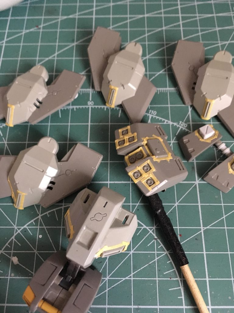 ガンダムTR-1ヘイズル改 制作工程2