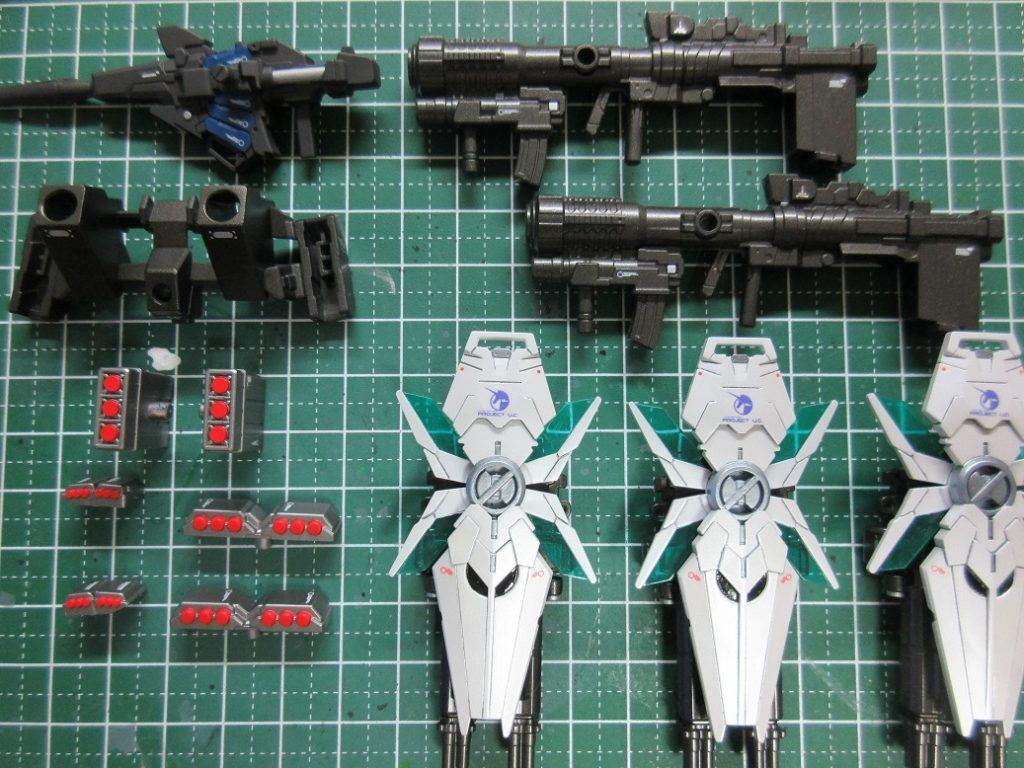 BB戦士 フルアーマーユニコーンガンダム 制作工程1