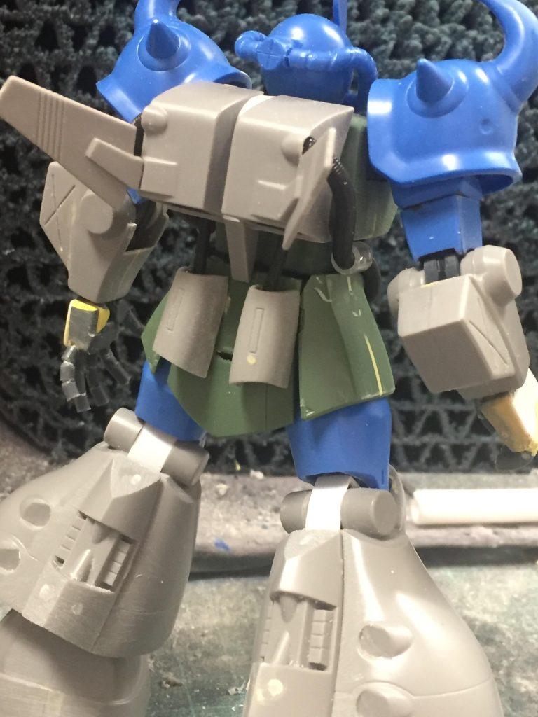 グフ飛行試験型(ジャブロー防衛隊ver) 制作工程2