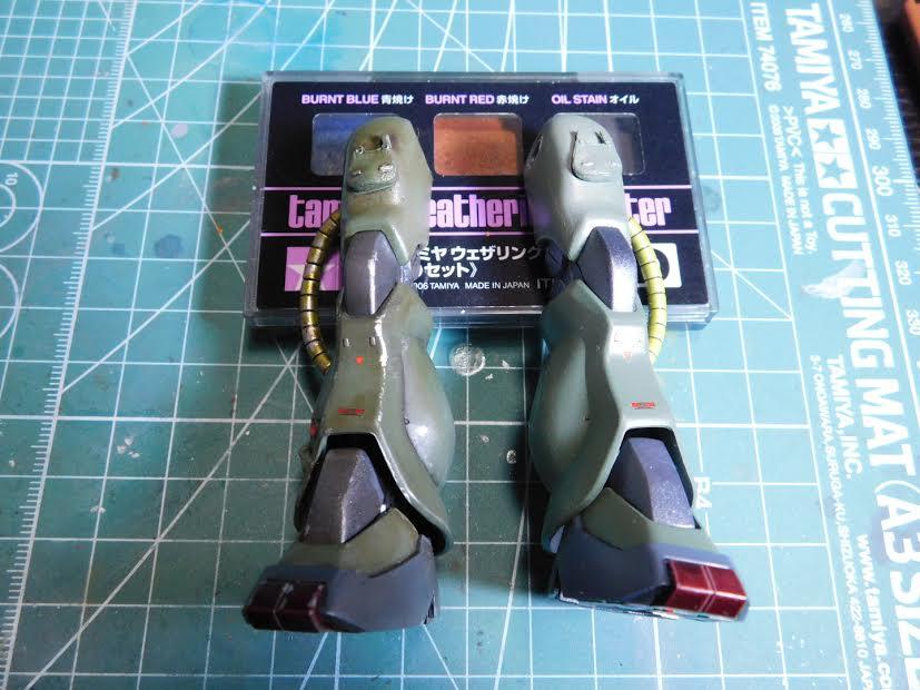 0080 ポケ戦 ザクⅡ FZ  バーニーザクロールアウトから最後闘いまで(T_T) 制作工程2